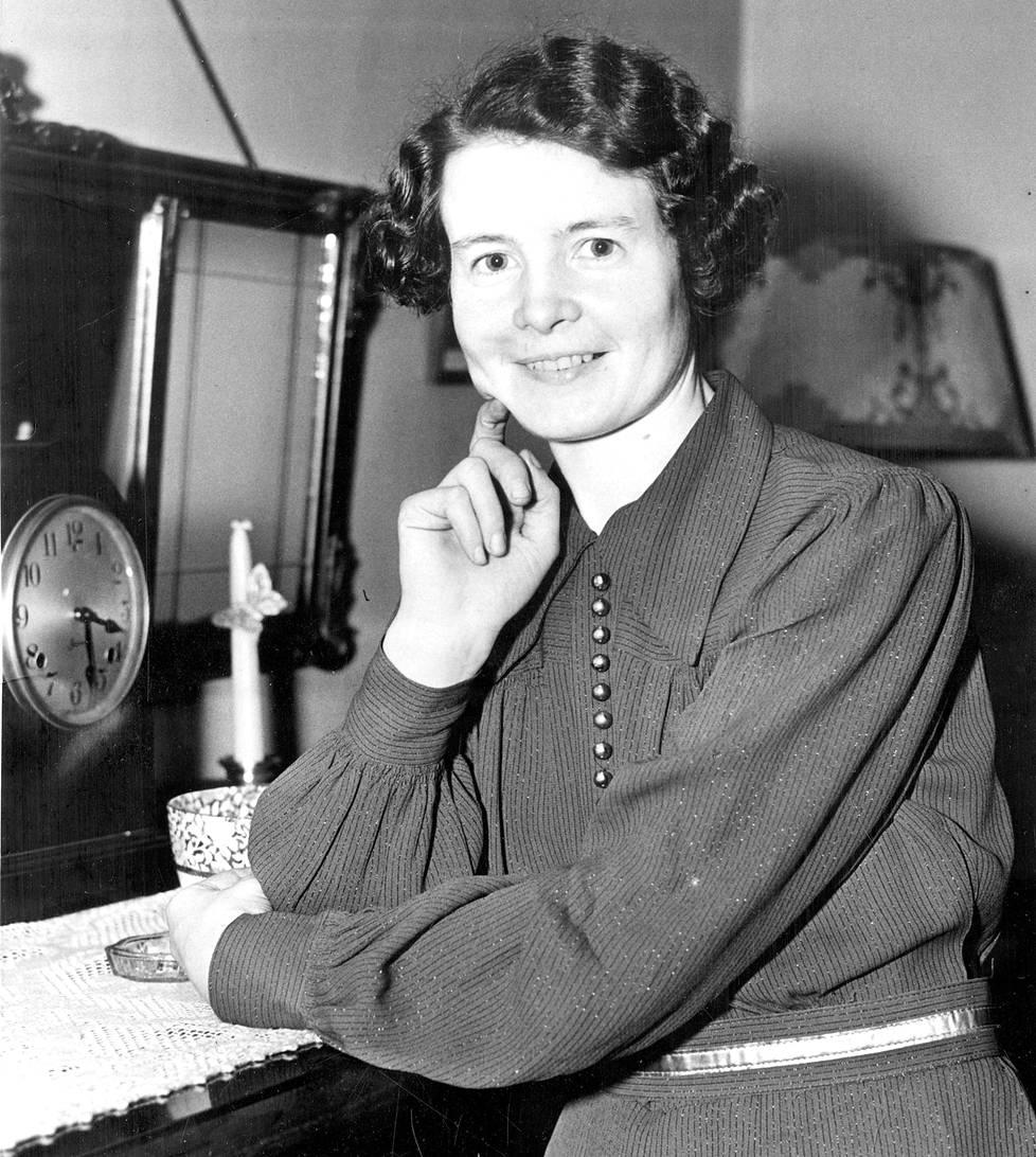 Sally Salminen New Yorkissa lokakuussa 1936.
