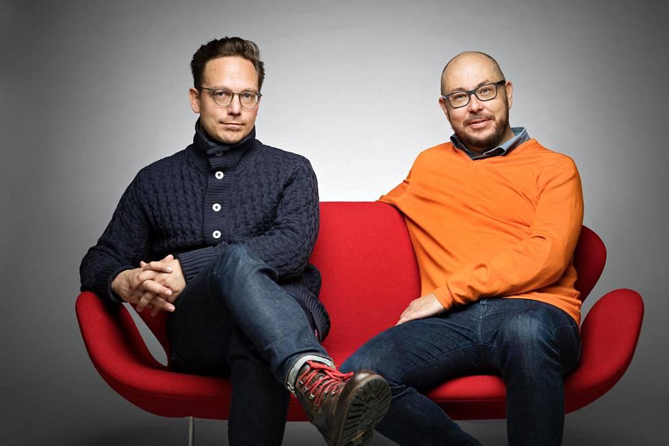 Timo Riitamaa ja Erno Enkenberg ystävystyivät aikuisiällä.
