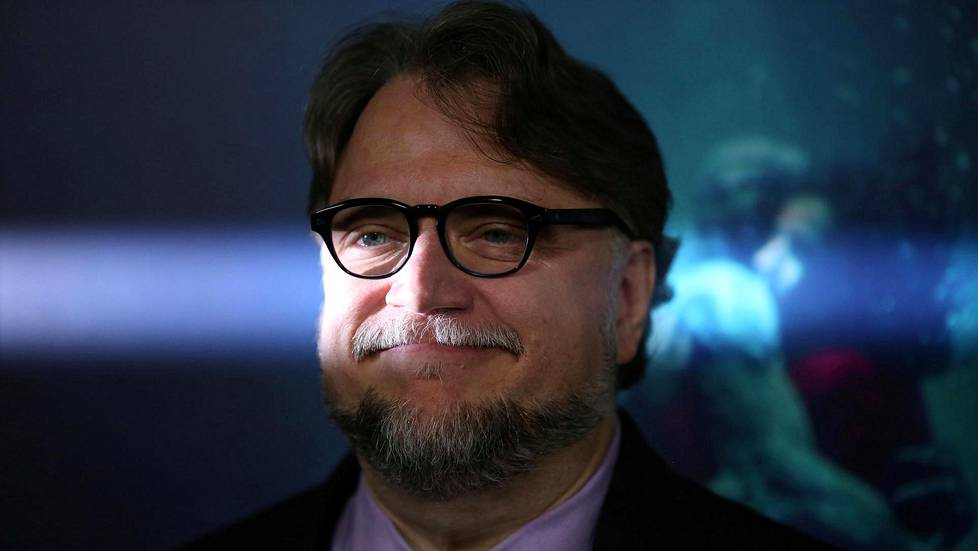Guillermo del Toro The Shape of Water -elokuvansa ensi-illassa.