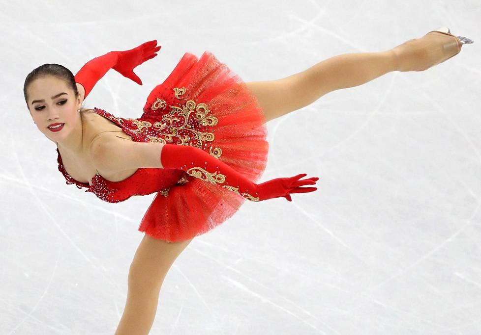 Alina Zagitova häikäisi vapaaohjelmallaan.