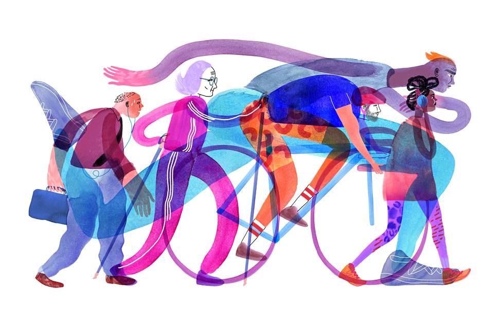 Toiset jaksavat kävellä ja pyöräillä paikasta toiseen, toisia ajatuskin uuvuttaa. Selitys saattaa olla peruskunnossa.