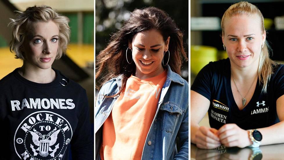 Anni Vuohijoki, Eva Wahlström ja Petra Olli ovat nousseet menestyviksi urheilijoiksi perinteisissä ja kovissa voimalajeissa.