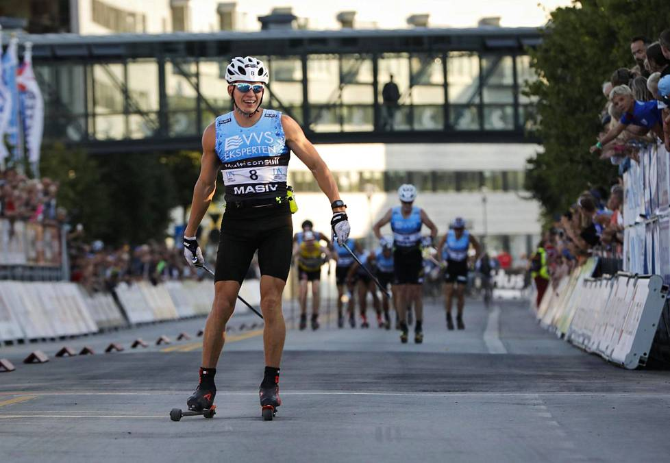Aleksandr Bolšunov voitti 60 kilometrin kilpailun Blink-hiihtofestivaaleilla Norjassa kesällä 2018.