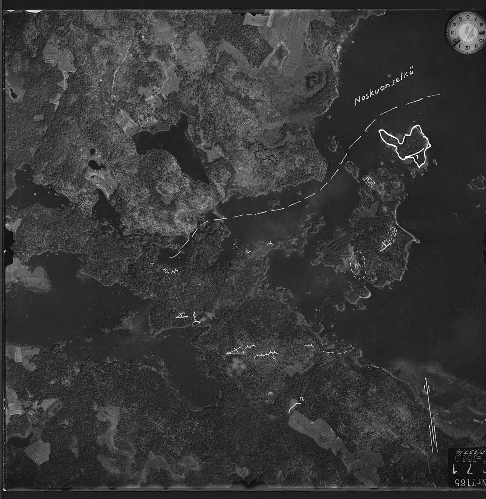 Arkistossa on säilynyt suomalaisten ottama ilmakuva Noskuanselän laidasta vain kuukausi Eugen Wistin kaatumisen jälkeen. Jostain syystä kaatumispaikka Pieni Käräjäsaari oli merkitty valkoisella.