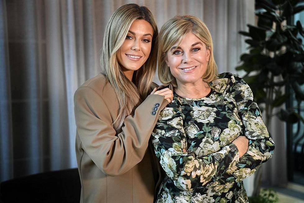 Bianca Ingrosso (vas.) ja Pernilla Wahlgren ovat Ruotsin tunnetuimpia äiti–tytär-kaksikkoja.