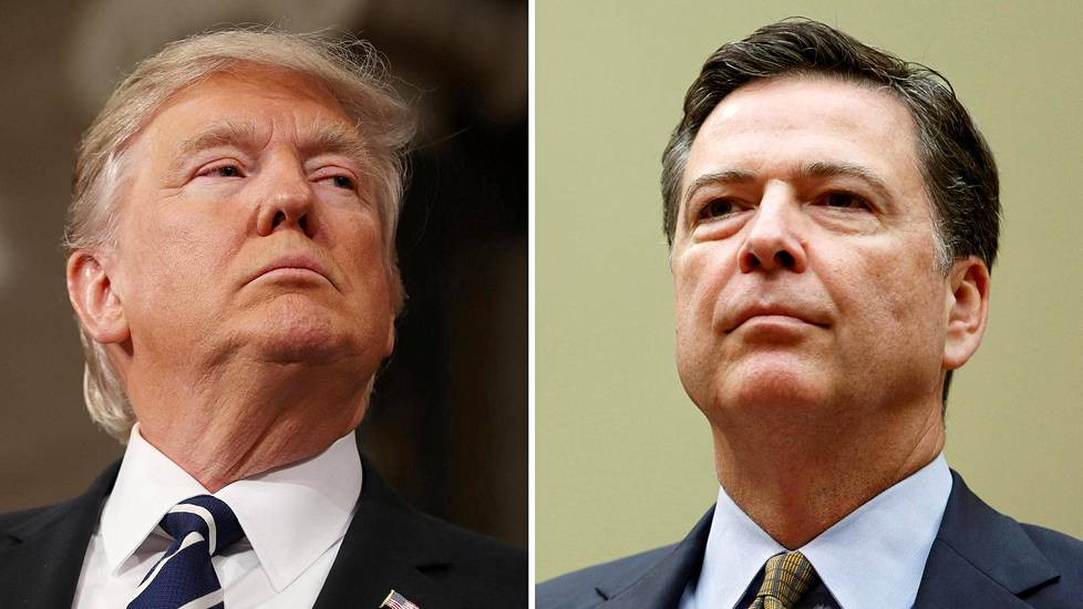 Videoartikkeli, Donald Trump ja James Comey