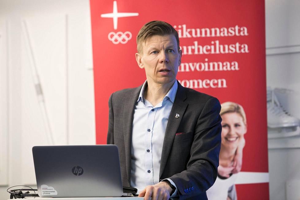 Suomen olympiakomitean toimitusjohtaja Mikko Salonen.