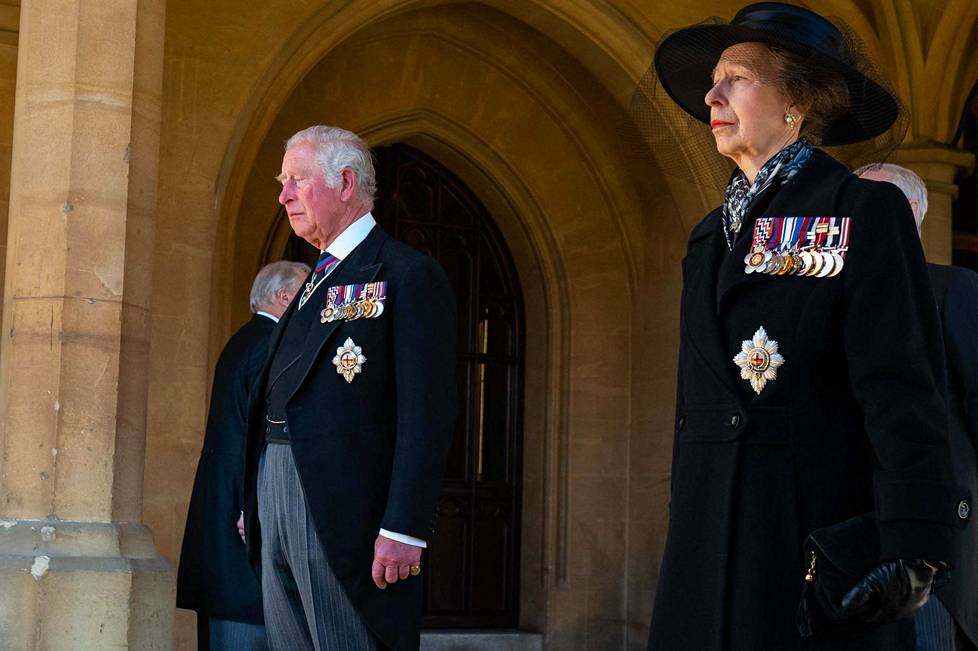 Prince Charles and Princess Anne, Charles' sister, are preparing to attend Prince Philip's funeral procession in Windsor.
