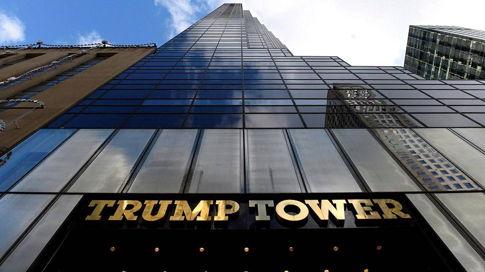 Donald Trump asuu Trump Towerissa Manhattanilla.