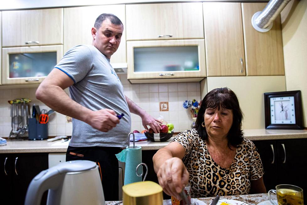 Greek-based transportation entrepreneur Andrei Gaitan lives with his mother Anja and his own family in a large house in Sartana.