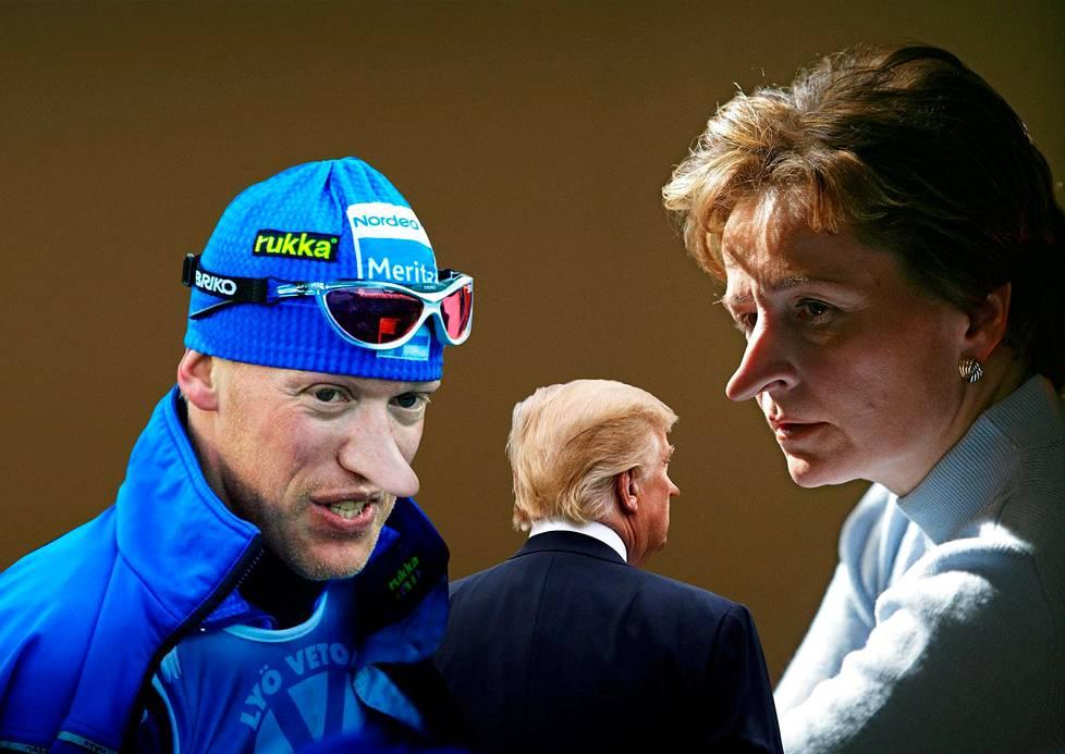 Hiihtäjä Jari Isometsä, presidentti Donald Trump ja pääministeri Anneli Jäätteenmäki valehtelivat.
