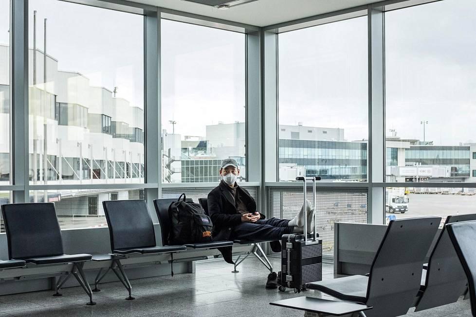 Frankfurtin lentokenttä Saksassa 13. maaliskuuta 2020. Samaan aikaan presidentti Donald Trump sulki Yhdysvaltain rajat eurooppalaisilta Schengen-alueen matkustajilta.