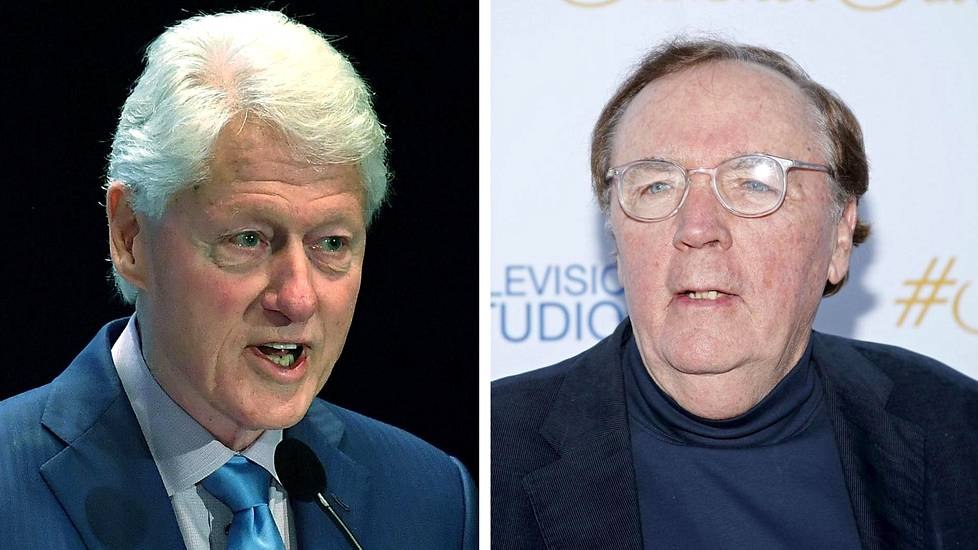 Bill Clinton (vas.) ja James Patterson.