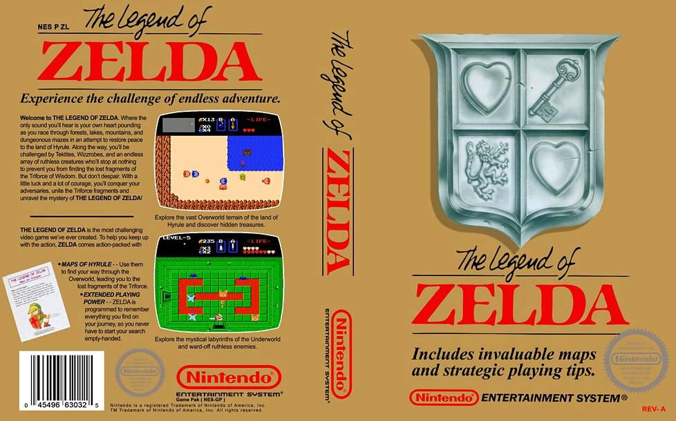 The Legend of Zeldan alkuperäinen kansi.