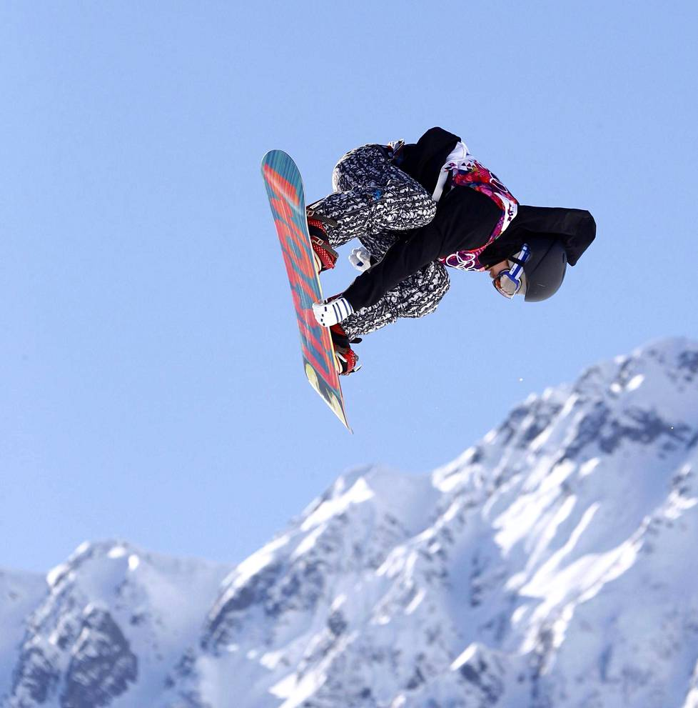 Roope Tonteri has competed in two Olympics.  Here he jumps into the 2014 Sochi Olympics slopestyle final.