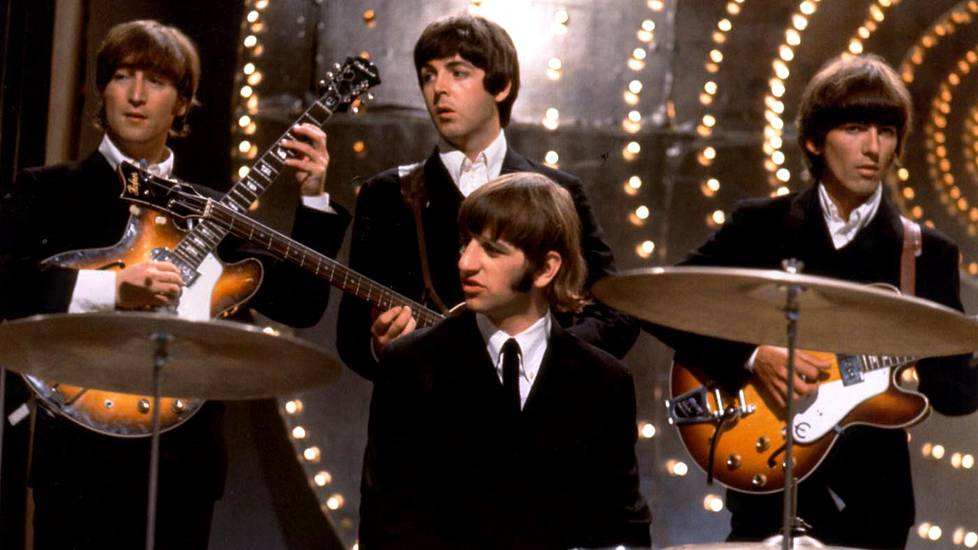 Beatles eli John Lennon (vas.), Paul McCartney, Ringo Starr ja George Harrison