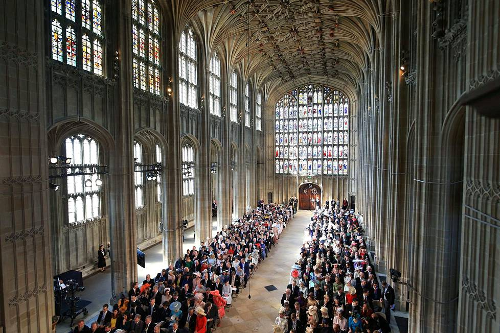 Pyhän Yrjön kappeli Windsorin linnassa.