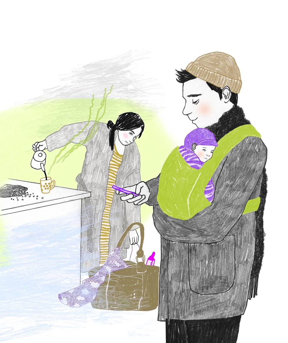Asiantuntijan neuvo pariskunnille on neuvotella kotiin ja lapsiin liittyvien vastuiden jakamisesta tarvittaessa yhä uudestaan ja uudestaan.