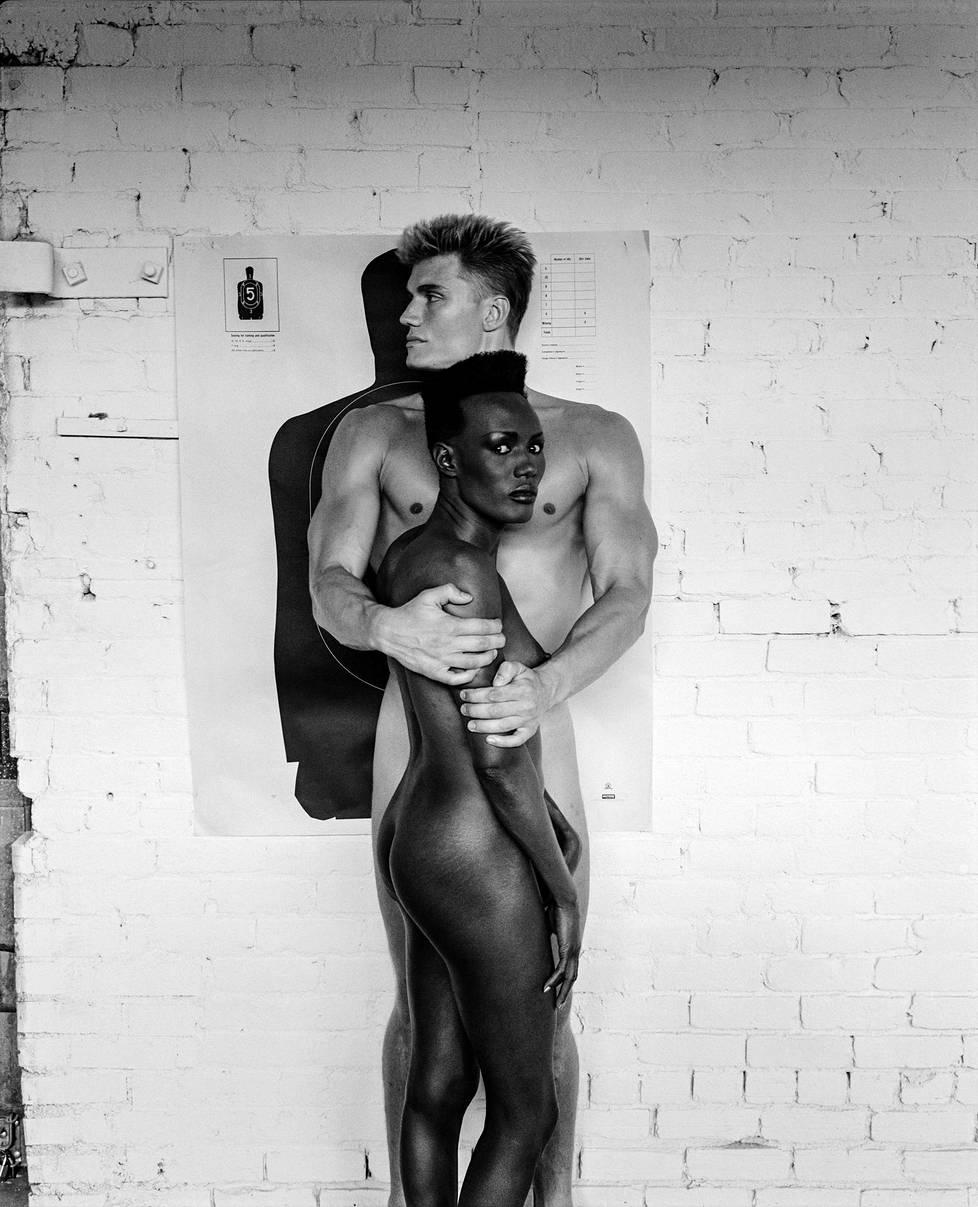 Grace-Jones ja Dolph-Lundgren, Los-Angeles, 1985