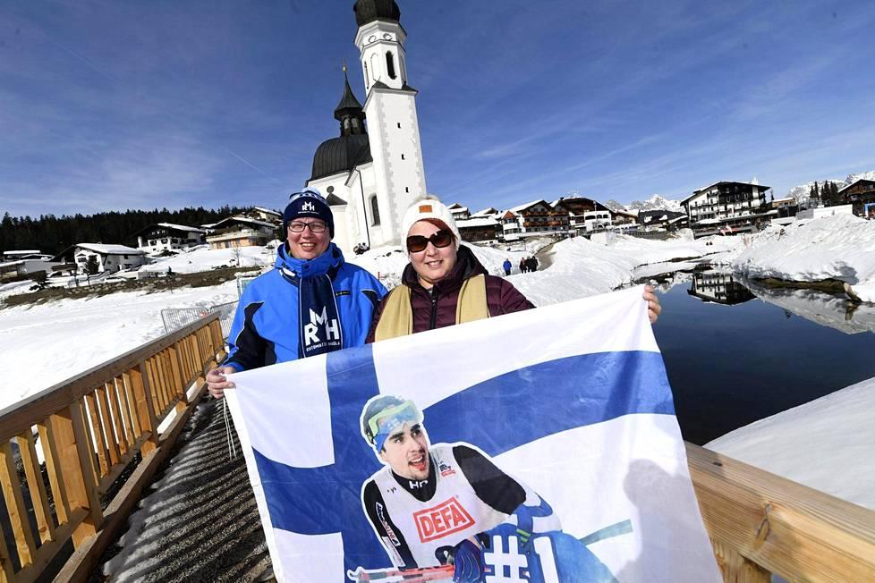Kimmo ja Tiina Jääskeläinen ovat nauttineet MM-reissustaan Seefeldissä.