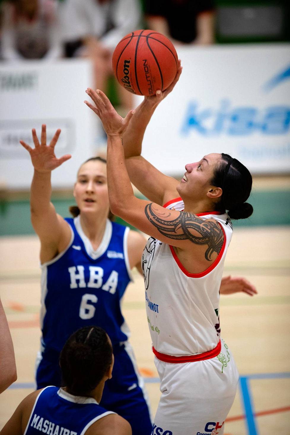 Venla Ulander and other young domestic players at HBA-Märsky had great difficulty stopping Kouvottari's Sarah Toeaina in a match on 14 January.  Toeaina eventually scored 37 points and 13 rebounds, and Kouvottaret took a clear win.