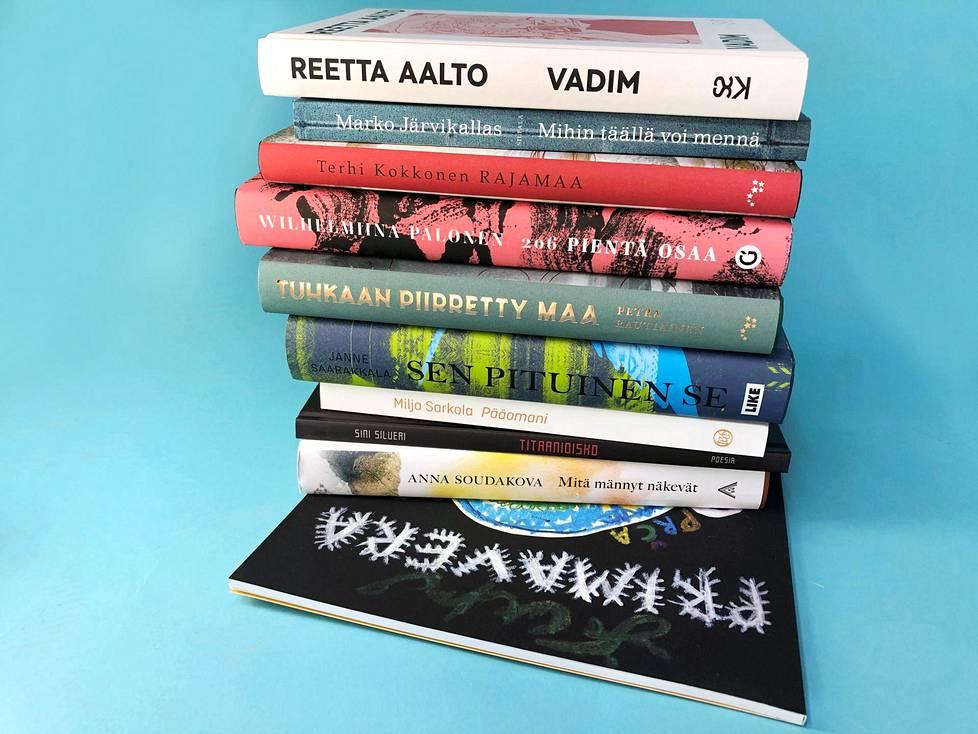 Nämä kirjat kilpailevat Helsingin Sanomien kirjallisuuspalkinnosta vuonna 2020.