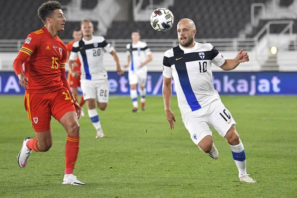 Suomi tarvitsee Teemu Pukin maaleja tänään Walesia vastaan. Pukki haastoi Walesin Ethan Ampadun 3. syyskuuta Helsingissä.