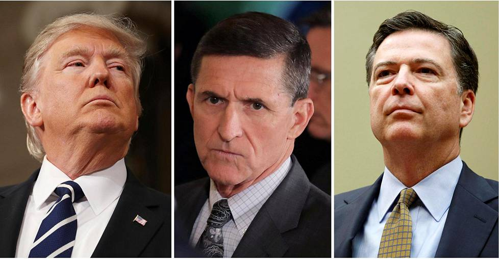 Donald Trump, Michael Flynn ja James Comey