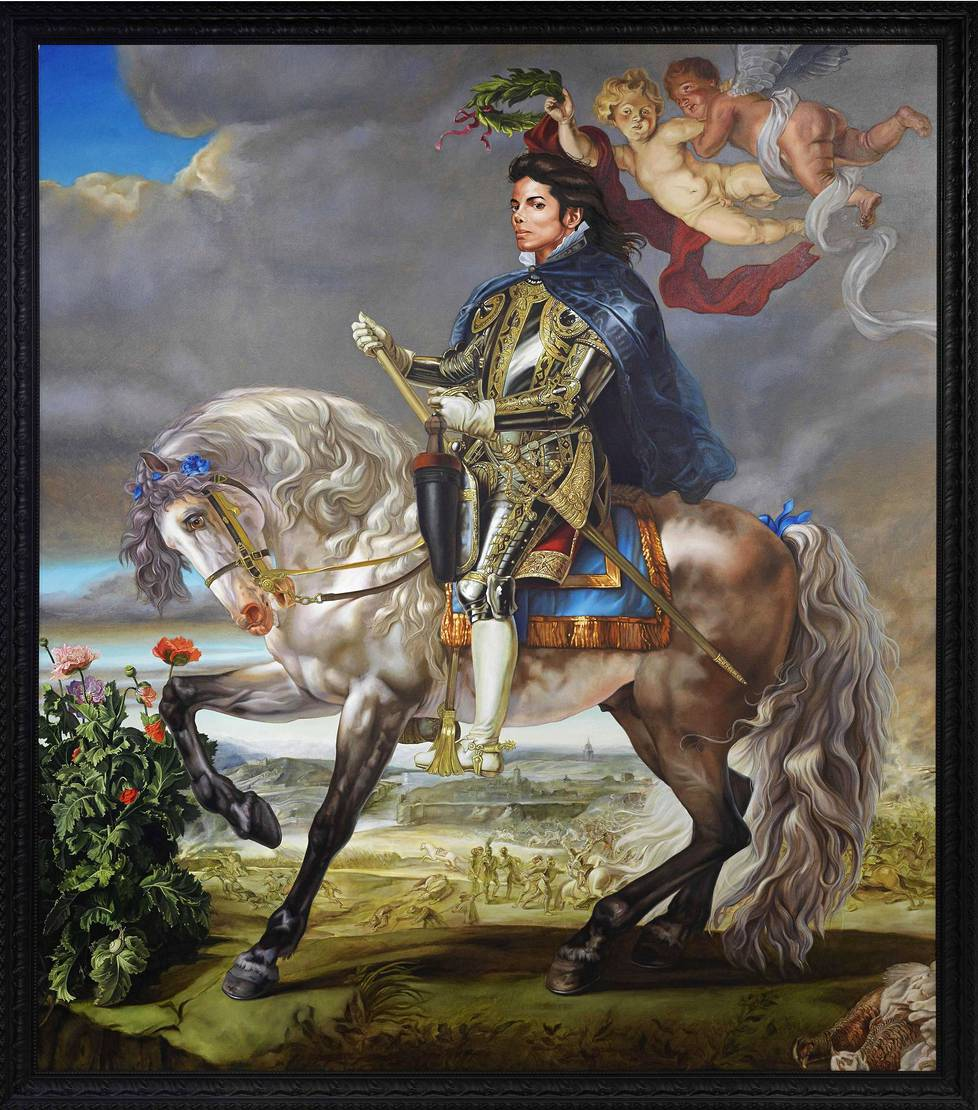 Kehinde Wiley: Equestrian Portrait of King Philip II (Michael Jackson) (2010).