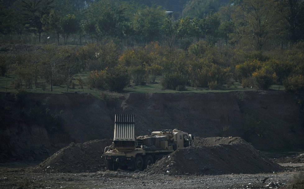 Turkish-armed Azerbaijan prepared for a rocket attack on 15 October in the Nagorno-Karabakh region.