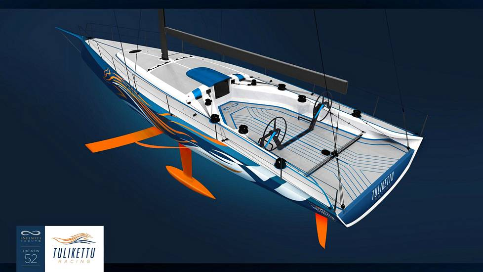 The design of the Infiniti 52R boat has started from the hydrofoil, which it makes optimal use of, says Arto Linnervuo.