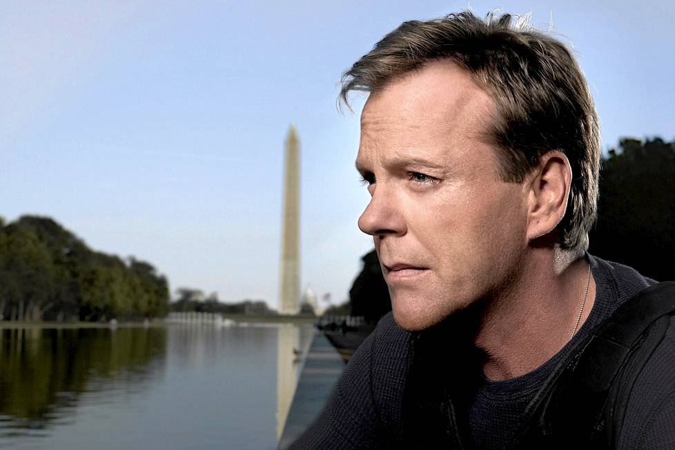 Kiefer Sutherland on Jack Bauer.