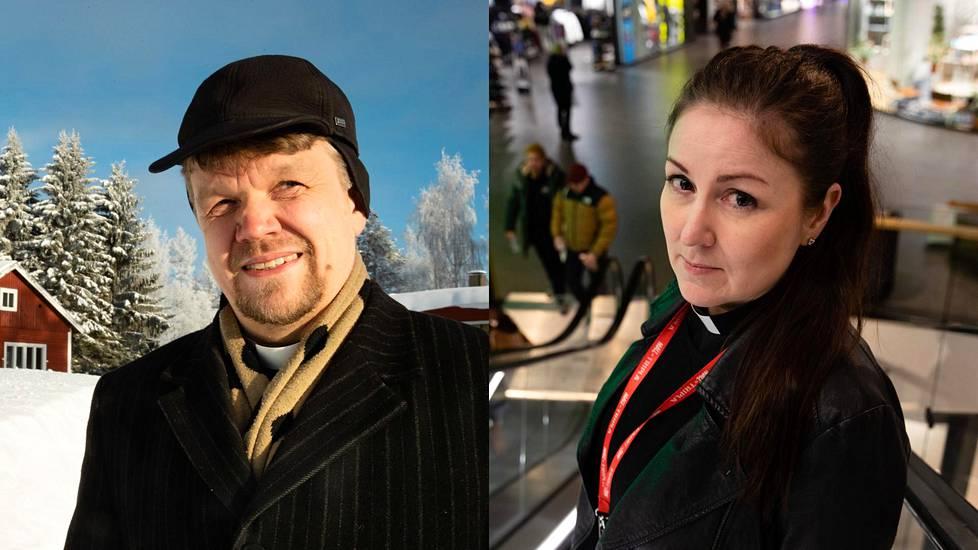 Esa Oikarinen on toiminut Paltamon kirkkoherrana kuusi vuotta. Piia Klemi aloitti työt Töölön seurakunnassa viime kesänä.