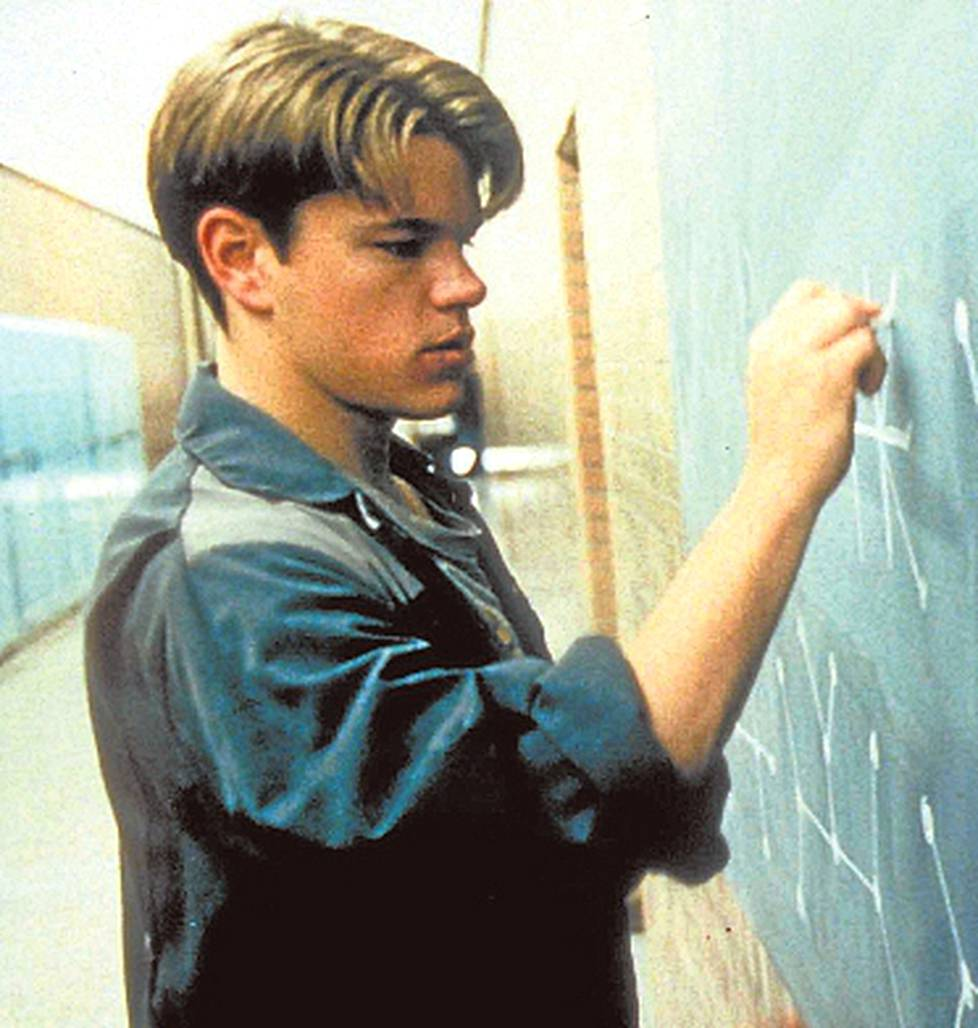 Nuori Matt Damon on <br />Will Hunting -leffan nero.