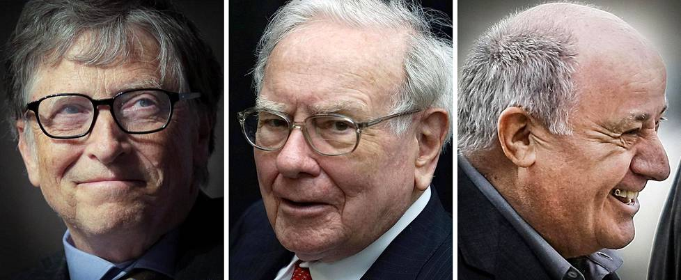 Bill Gates, Warren Buffet ja Amancio Ortega.