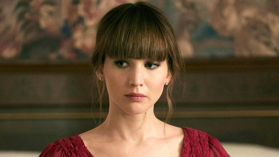 Jennifer Lawrence Red Sparrow -elokuvassa.