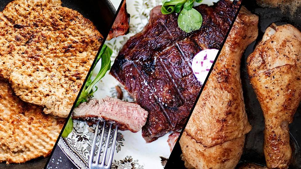Possua, nautaa vai broileria? Terveyden kannalta paras valinta on vähärasvainen liha, jossa on mahdollisimman vähän tyydyttynyttä rasvaa. Myös valmistustavalla voi vaikuttaa lihan terveellisyyteen.