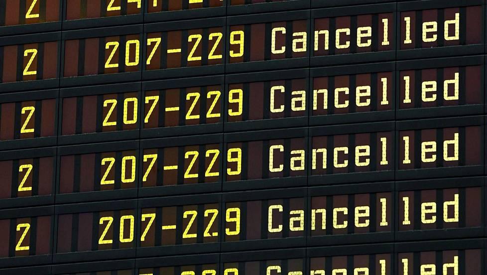 Ilmailualan lakko toteutuu perjantaina laajana – Finnair peruu 90 lentoa - Politiikka | HS.fi