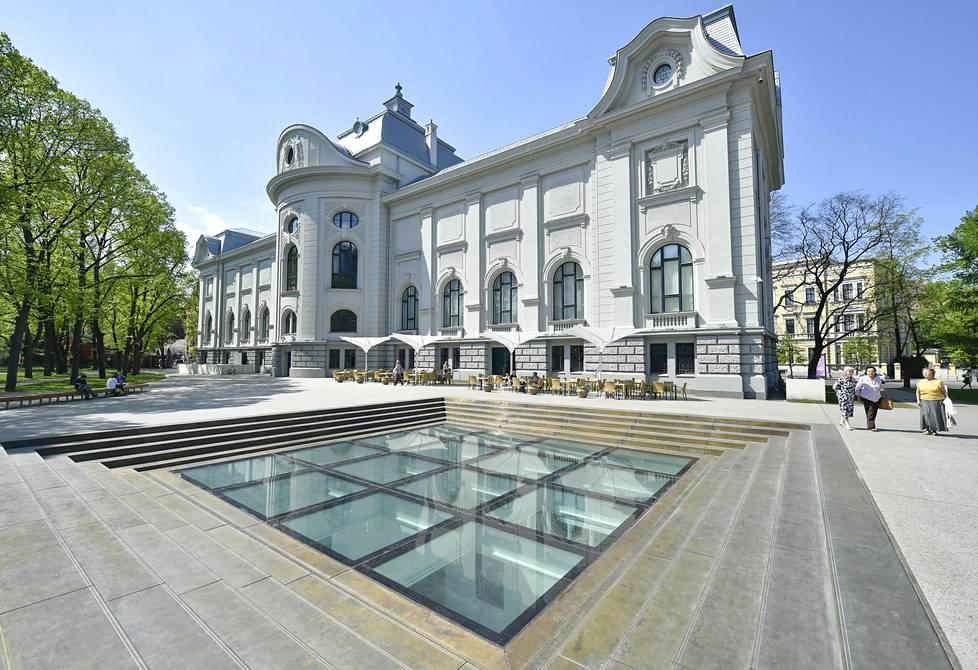 Latvian kansallisen taidemuseo sai remontissa uuden 3500 neliön suuruisen maanalaisen osion.