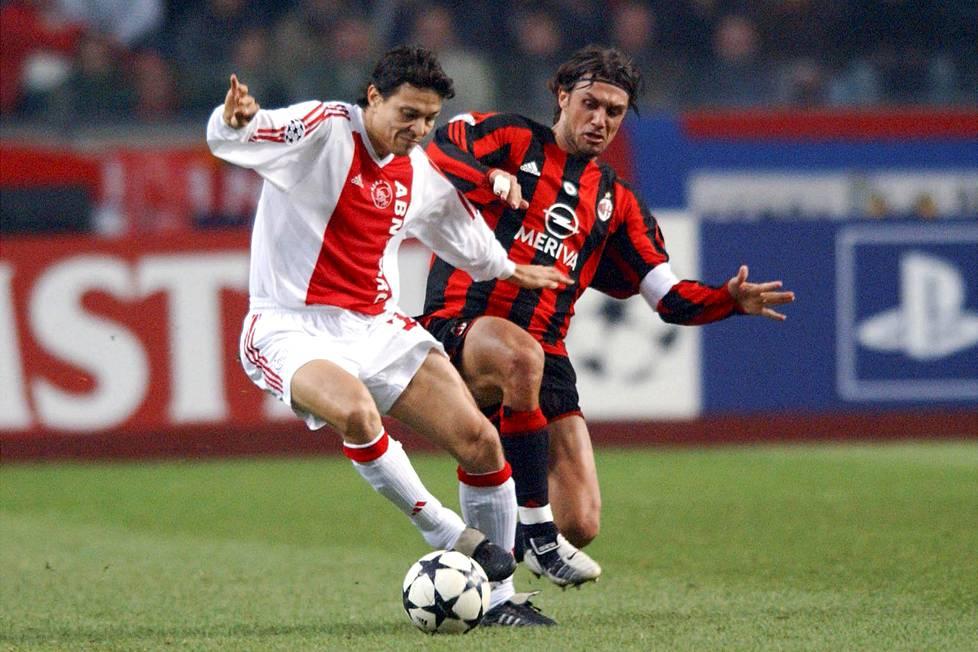 Vuonna 2002 Jari Litmanen palasi Ajaxiin. Mestareiden liigan alkulohkon ottelussa marraskuussa 2003 vastassa oli AC Milanin Paolo Maldini.