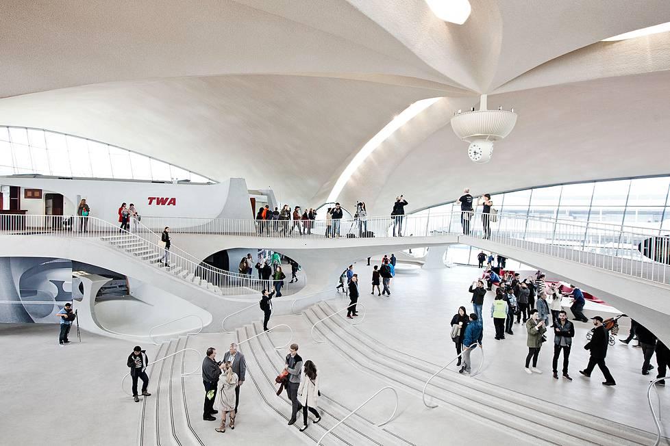 Newyorkilaiset pääsivät tutustumaan Eero Saarisen suunnittelemaan  TWA-terminaaliin lokakuun toisena viikonloppuna järjestetyn Open House New York -tapahtuman yhteydessä.