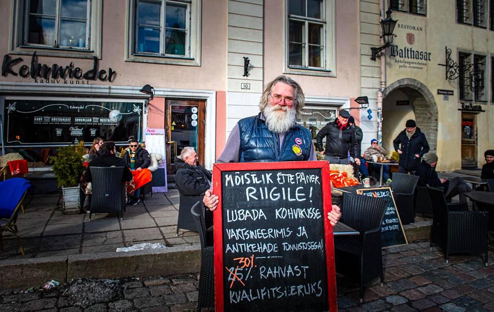Cafe owner Vello Leitham.