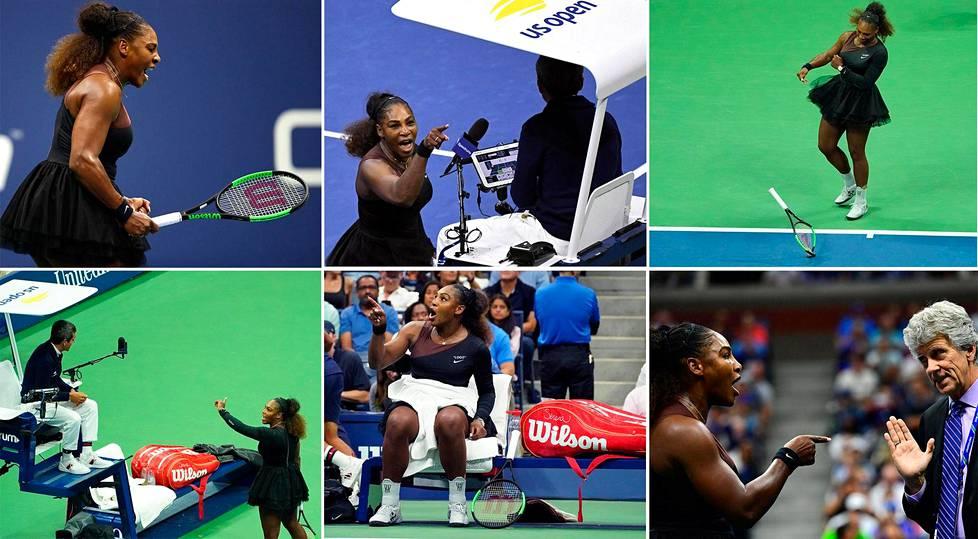 Serena Williamsilta meni hermot Yhdysvaltain avointen finaalissa.