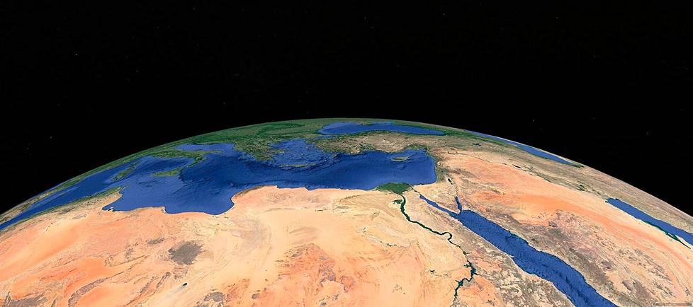 Qattaran syvänkö sijaitsee Egyptin alueella Libyan aavikolla.