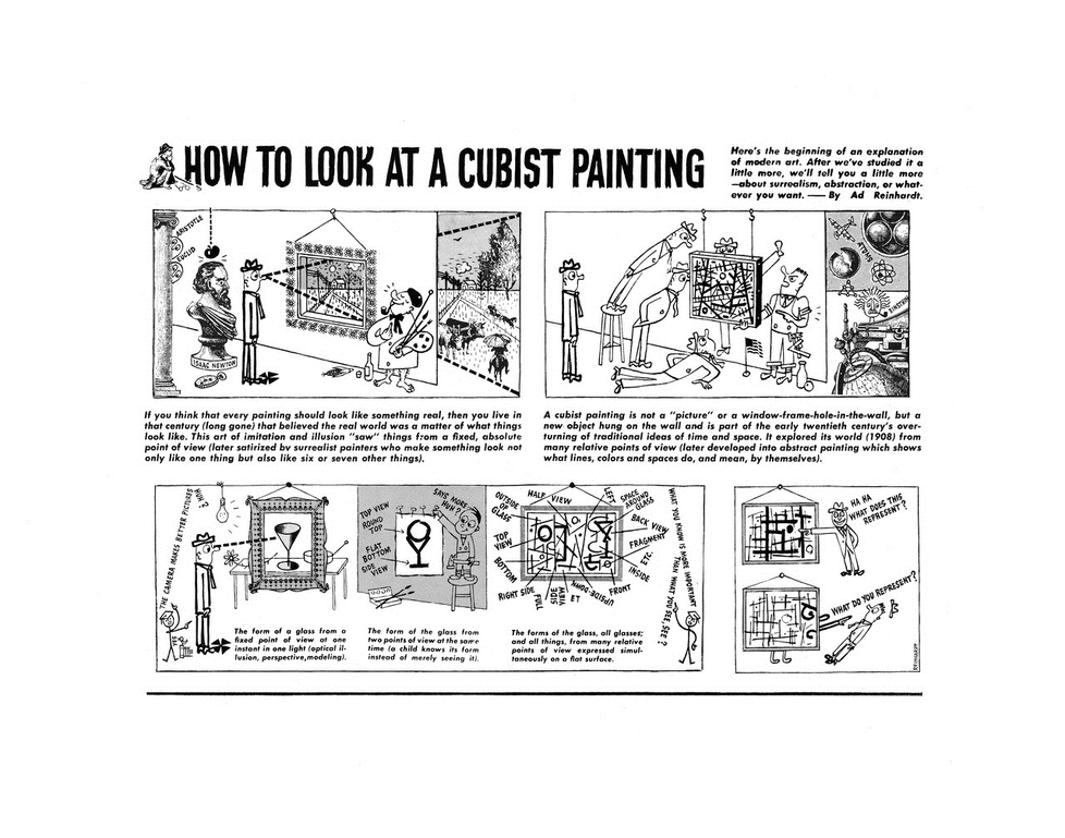 Ad Reinhardt: How to Look at a Cubist Painting (1946)