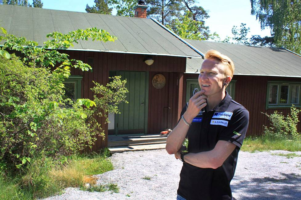 Mårten Boström IFK Lidingö SOK:n seuramajalla kesäkuussa 2016.