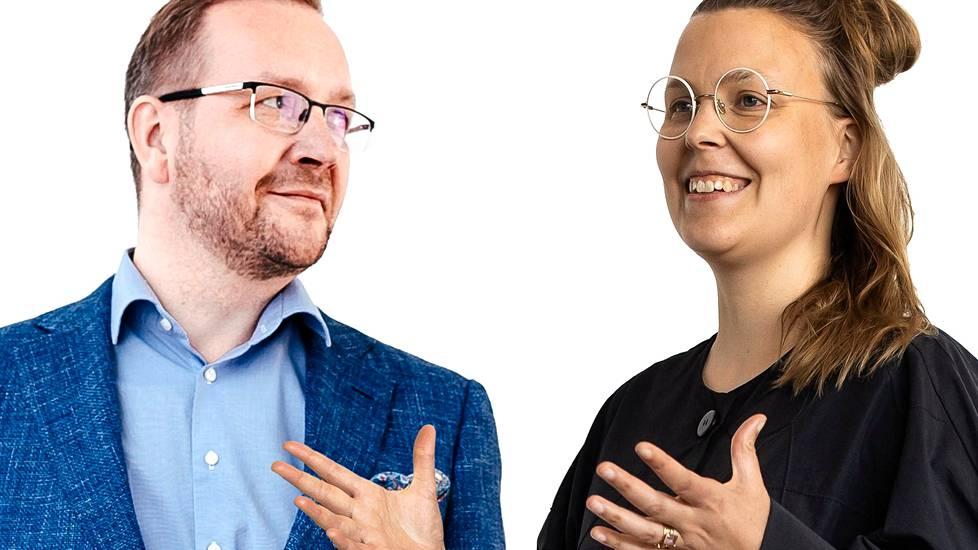 Juho Romakkaniemi ja Sonja Finér