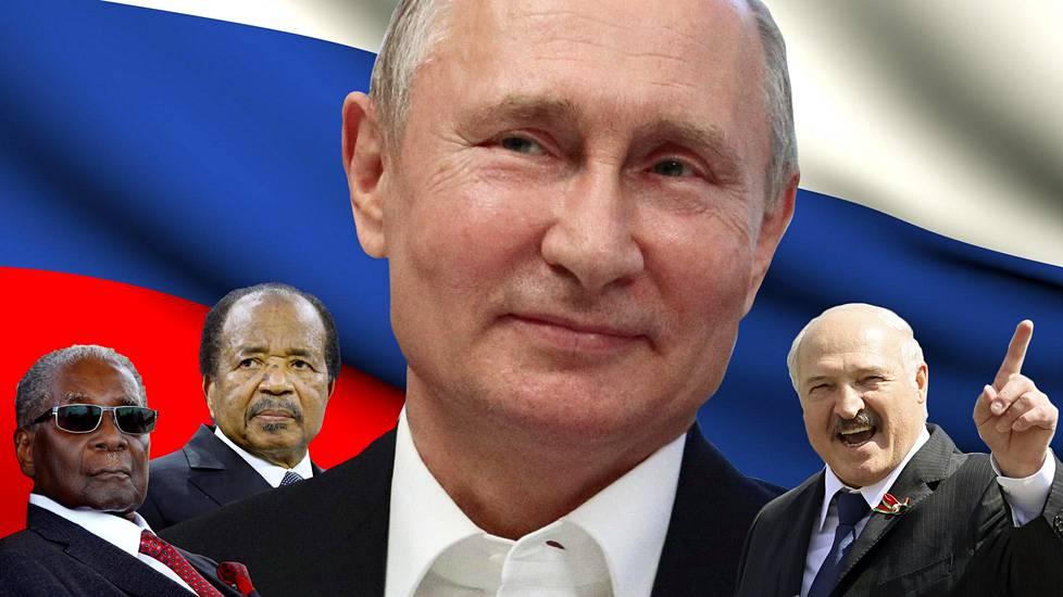 Robert Mugabe, Paul Biya, Vladimir Putin ja Aleksandr Lukašenko.