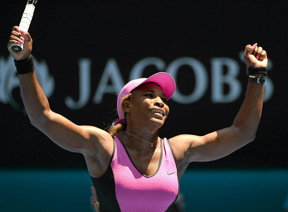 Serena Williams on voittanut 61 ottelua Australian avoimissa.