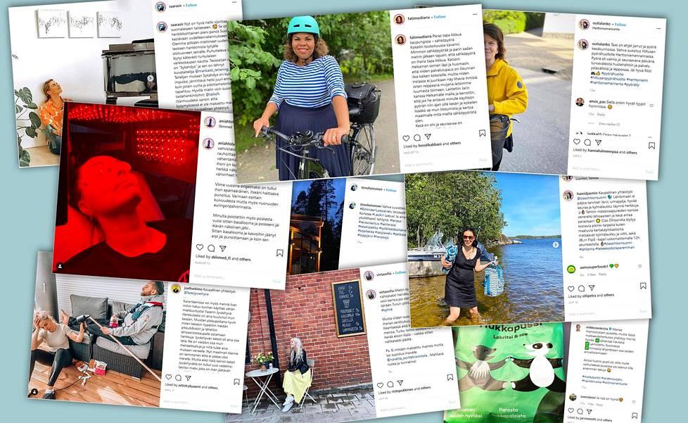 Kansanedustajat ja valtuutetut suosittelevat suomalaisia yrityksiä Instagramissa myös spontaanisti.